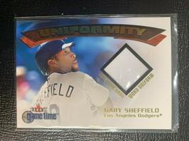 2001 Fleer Game Time Uniformity  #19  Gary Sheffield - $8.90