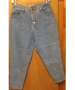 Denim Republic blue jeans size 17/18 measures 32x28 ladies cotton - $4.95
