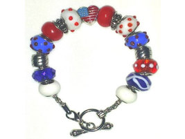 Red, White & Blue Charm Bracelet - $20.00