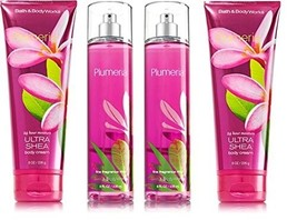 4 Piece Bath & Body Works Plumeria Gift Set- Cream and Fragrance Mist - $34.99