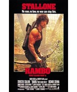 Rambo: First Blood Part II (1985) Sylvester Stallone cult movie poster... - $18.00