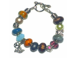 Peace and Love Neutral Color Charm Bracelet - $20.00