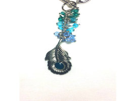 Peacock Feather Pendant Necklace - $10.00