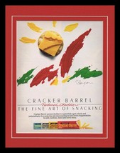 1986 Cracker Barrel Cheese Framed 11x14 ORIGINAL Vintage Advertisement - $32.36