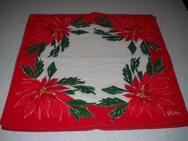Vintage Vera Christmas Poinsettia Napkins set of 6 - $39.99