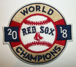 """Boston Red Sox~2018 World Series Champions~Embroidered PATCH~3 1/2""""~Iron Sew On - $4.95"""