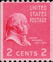 1939 2c John Adams, Coil Scott 850 Mint F/VF NH - $3.25