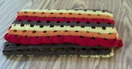 Handmade Crochet Fall Wrap, Prayer Shawl, Accessories, Autumn Scarf, Lon... - $45.00