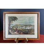 Antique Art Print Washington from Beyond the Navy Yard 1833 D.C. Cooke d... - $25.18