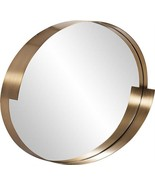 HOWARD ELLIOTT INTREPID Wall Mirror Oval Brushed Brass - $839.00