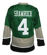 Custom Name # Ireland Irish Shamrock Retro Hockey Jersey New Green Any Size image 5