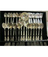 WM Rogers & Son Silverplated flatware Enchanted Rose 63 pieces - $190.00