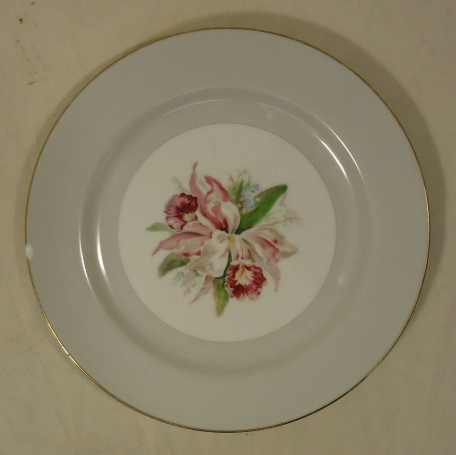 Noritake Margarita 5049 Vintage 10in Dinner Plate China Gold Rim
