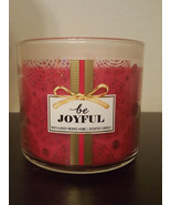Bath And Body Works Be Joyful 3-Wick 14.5 oz Candle  - $29.03