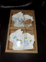 TAG 2 PIECE RABBIT CANDY DISHES NEW - €23,54 EUR