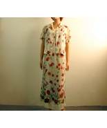 Summer Maxi Sheath Dress with Matching Over Shirt Impressions Medium - $15.00