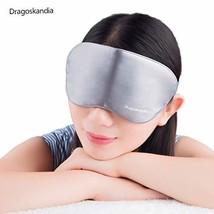 100% Silk Heated Eye mask USB Warm Sleep Graphene with time and Temperat... - €31,43 EUR