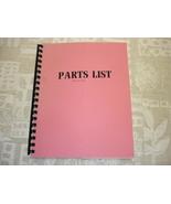 Leadwell MCV-2000P Part List Manual - $20.00