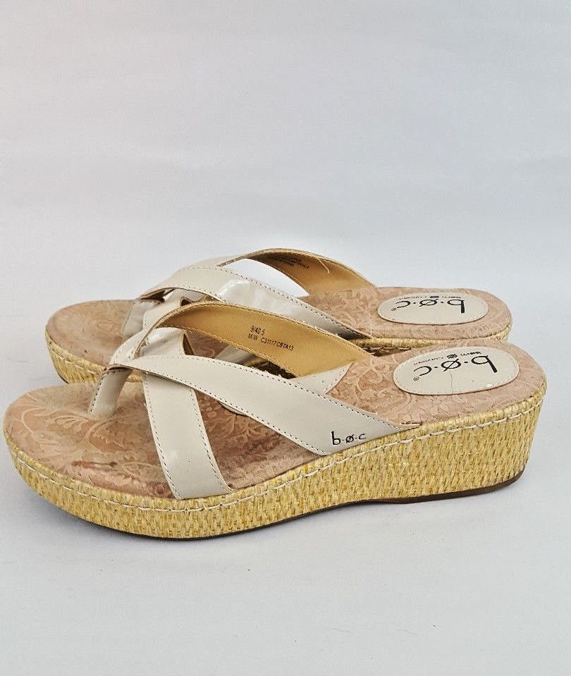 7d1d44039558 Boc Born Straw Wedge Sandals Bisque Patent and 50 similar items