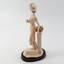 Marlo Collection by Artmark Lady Figurine Cup in hand Standing on Step image 4