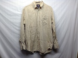 Men's Beige Long Sleeve Button Up Shirt by Victorinox Sz M
