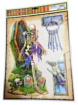 Haunted House Horror Props CREEPY DECAL CLING Halloween Decorations-SKEL... - $4.92
