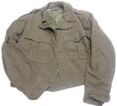 Original 1946 Patt U.S. Army Ike O.D. Wool Field Jacket Sz 38 Xs - $15.85