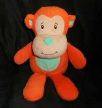 "12"" ANIMAL ADVENTURE 2016 BABY ORANGE & GREEN MONKEY STUFFED PLUSH TOY L... - $26.18"