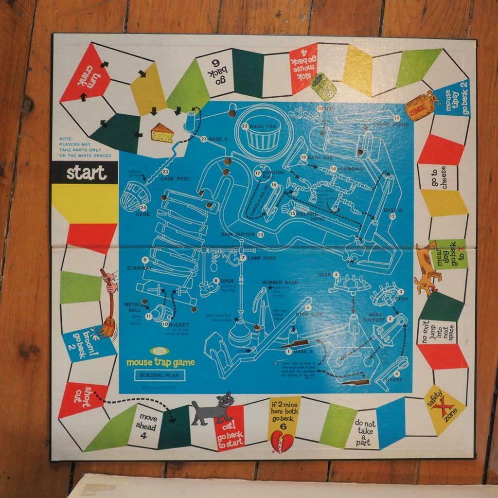 Vintage Mouse Trap Board Game by Ideal Original Box Complete 1963
