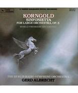ERICH KORNGOLD SINFONIETTE FOR LARGE ORCH OP. 5 CD  RARE - $6.95