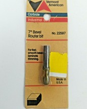 Vermont American 22597 bevel trimming 7 degree router bit  - $9.99