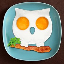 Egg Mold Tool Breakfast Silicone Fried Pancake Ring Shaper Funny Owl Coo... - $3.52