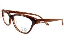 LuLu Guinness 870 Brown Tura Women New Eyeglasses Plastic Frames 52-15-135 - $58.41