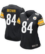 Women's Antonio Brown Jersey #84 Pittsburgh Steelers Black Stitched Jersey - $35.99