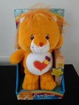 Care Bears Brave Heart Lion Cousins Plush With VHS Mattel 2004 Collectible - $19.75