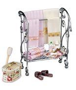 Dollhouse Filled Bathroom Rack 1.765/1 Reutter Accessories Towels Miniat... - $51.75