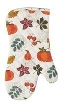 Autumn Leaves and Pumpkins Fall Harvest Kitchen Oven Mitt - $29.86