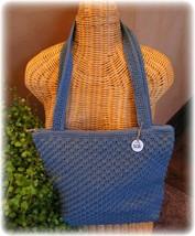 Vintage The Sak Satchel Crocheted Shoulder Handbag Tote Purse Elliott Lucca - $21.14