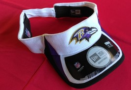 New Era Nfl Baltimore Ravens White Purple Black Unisex Football Visor New - $20.00