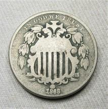 1868 Shield Nickel Coin AG792 - $19.29