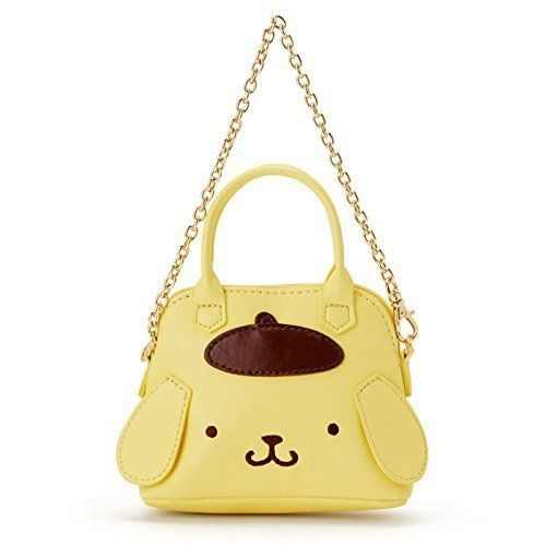 POMPOM PURIN Mini Boston bag-style charm Sanrio Kawaii Cute 2018 NEW Japan F/S