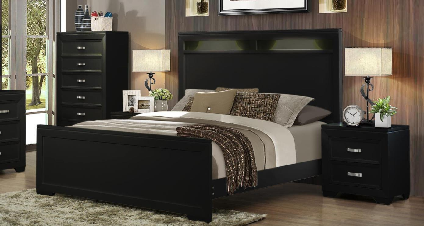 lighting a bedroom myco fr740 k francis black headboard king bedroom set 12114