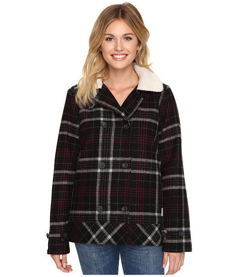 New Vans Womens Spirit Animal Double Breasted Wool Blend Casual Jacket XS $130 image 4