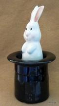 New Magnetic Ceramic  Salt and Pepper Rabbit in... - $17.40