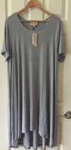 Philosophy Womens Dress blue white Size 1X hi low cut and sew Retail $98 - $53.46