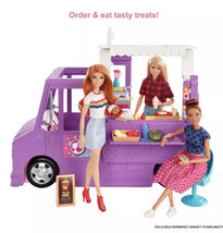 Barbie Food Truck With Multiple Play Areas & 30+ Realistic Play Pieces NIB - $83.96
