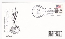 51C LAUNCH COUNTDOWN BEGINS HOUSTON, TX 1/21/1985 MAILERS POSTMARK SCCS - $1.98