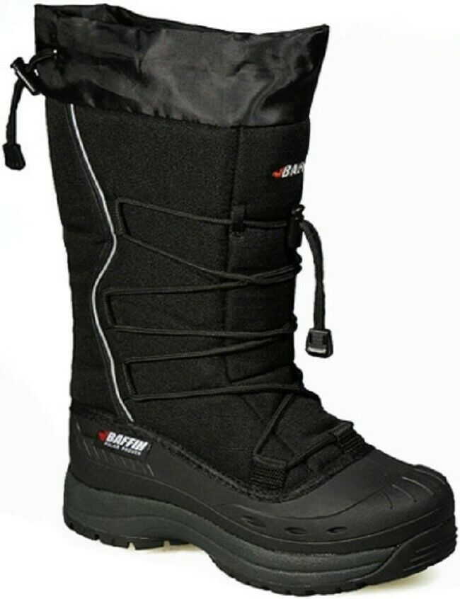 New Ladies Size 9 Black Baffin Snogoose Snowmobile Winter Snow Boots Rated -40F