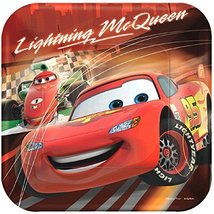 """American Greetings Cars Square Plate, Bright Red, 9"""" - $12.86"""