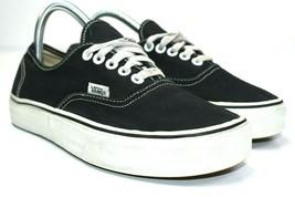 Vans Women's Black Skate Low Top Canvas Lace Up Sneaker Shoes Size 8.5 - $26.72